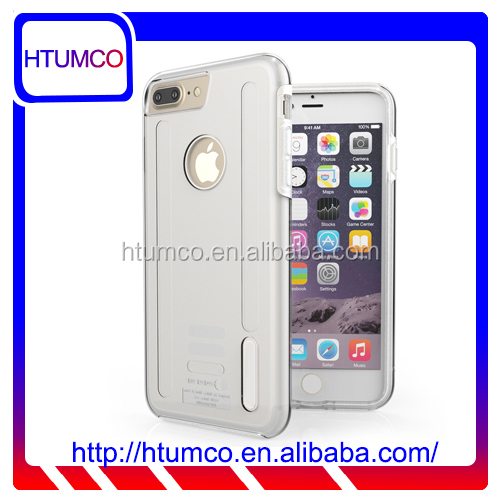"2016 Mobile Phone case Double Layer transparent PC case for Apple iPhone 7 Plus(5.5"")"