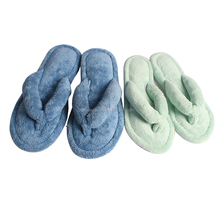 terry cloth thong slipper cheap spa slipper