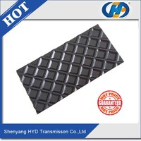 sanding machine pvc lattice pattern conveyor belt