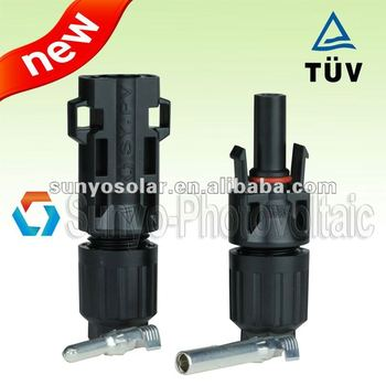 2013 best selling, 4.0 pin,TUV approved, IP68,female&male pair,4/6/10mm2 solar cable/wire,on-grid solar connector