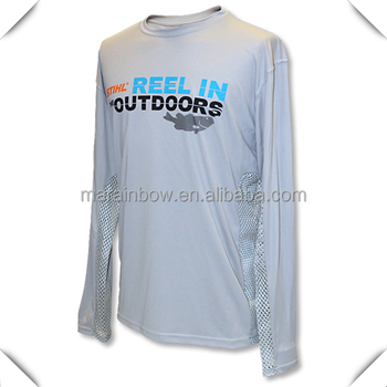 Custom dry fit polyester spandex performance long sleeve for Custom dry fit shirts