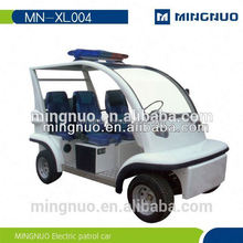 Electric patrol vehicle with 4 seats