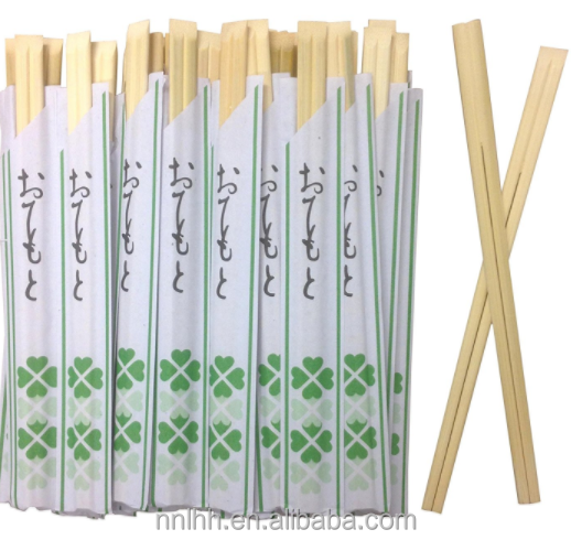 Paper Wrapped Disposable Square Bamboo Chopsticks With Custom LOGO