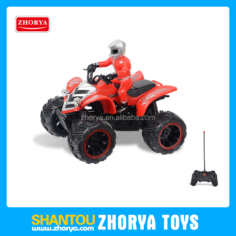 Hot product R/C friction beach motorbike toy plastic motorcycle toy for boy 4WD electric beach motorbike