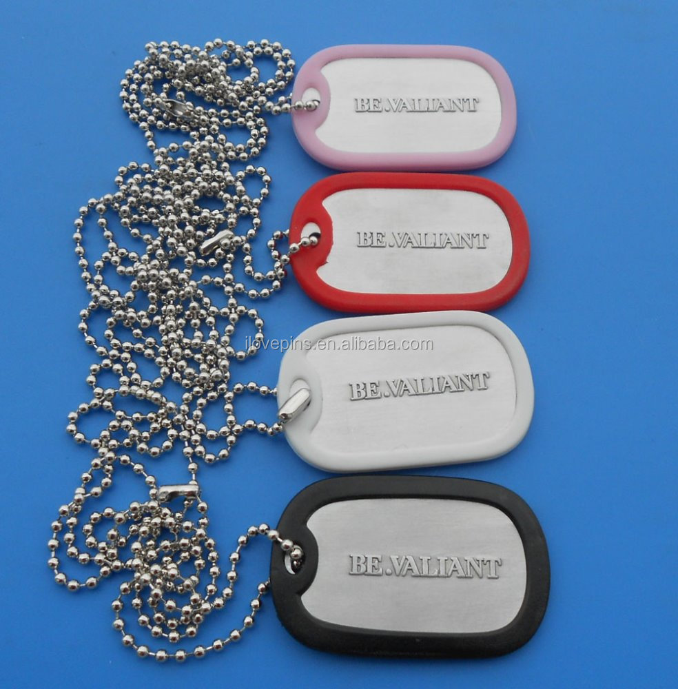 embossing metal design with rubber cover pendant necklace