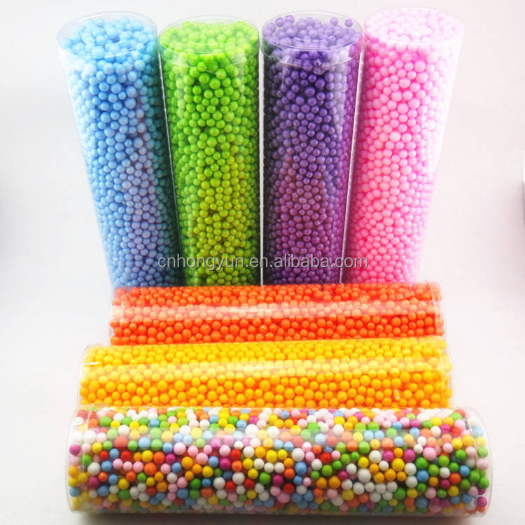Colorful micro polystyrene foam beads