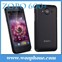 Newest 4.3Inch Glass-free ZOPO ZP600+MTK6582 Quad Core Android 4.2 smartphone 1GB+4GB 5.0MP Camera