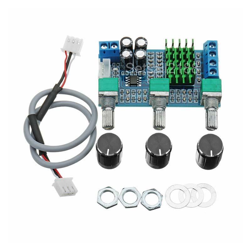 DC12-24V Dual Channel Digital Audio TPA3116D2 80W x 2 Treble Bass Amplifier New