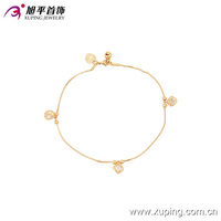 73924-xuping fashion 18k gold plated fancy anklet