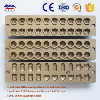 jelly candy mould Aluminum die-casting Soft candy mold