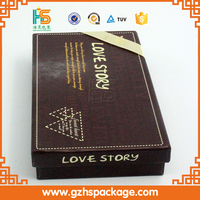 Love Story High Quality Chocolate Packaging Box Design for Wedding