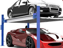 double car two post two layer automatic car parking lift system