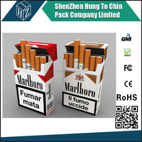 4 Color printed Coated paper cigarette box