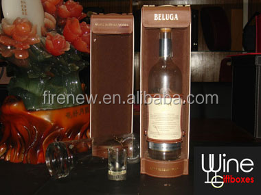Leather Wine Box Wine Carrier FN2136, Noble Russian Vodka Gift Box