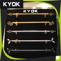 KYOK home decoration project antique copper plating curtain rod finials