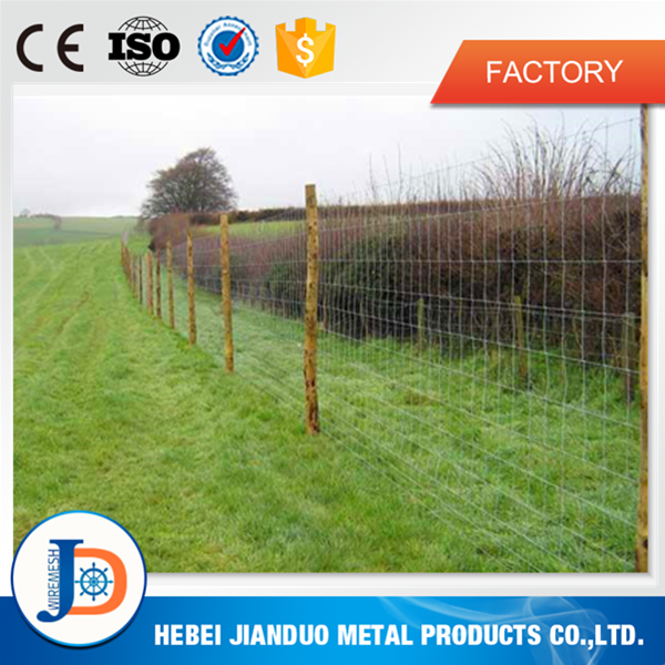 Manufacturing hot dipped galvanized field livestock metal fence panels