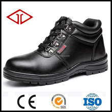 Black cheap steel toe and midsole function safety shoe boots with seam for workers