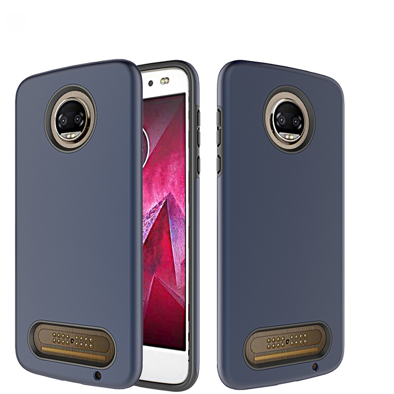 2019 Shockproof Matte Back Hard PC Combo Mobile Phone Case Cover For moto <strong>z</strong> force