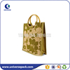 High quality custom bamboo handle jute tote bag for women
