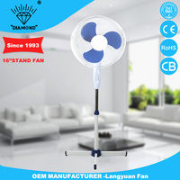 220V blade 16 inch stand fan manufactures with cross base