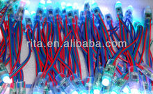 DC12V input 12mm TM1829 pixel node,50pcs a string,IP68 rated;800KHz(low speed)