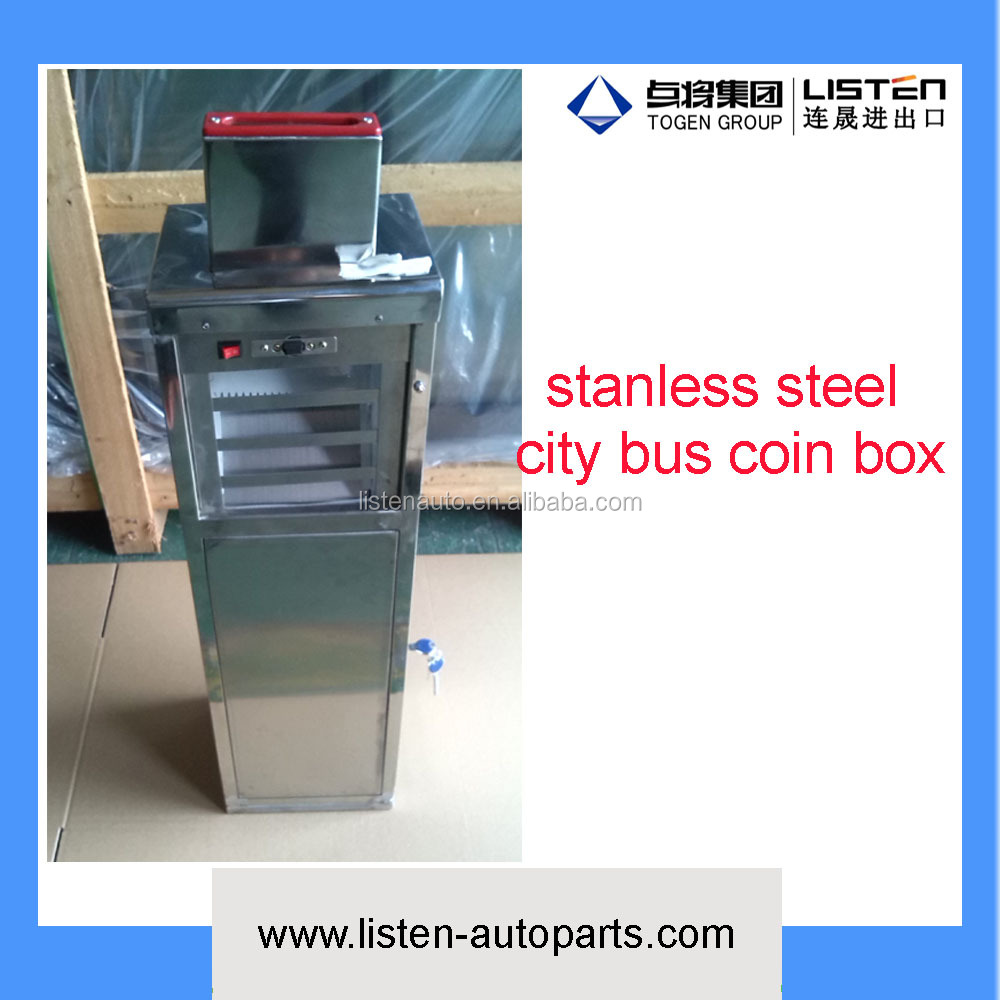 city bus Anti-theft coin box bus fare box made by stainless steel suitable for all city bus