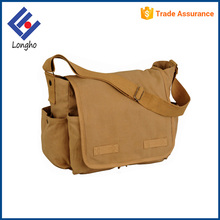 Cheap reusable retro side bags for boys heavy duty mens vintage blank canvas messenger bag