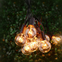 25FT G40 Globe String Light with 25 Clear Bulbs Outdoor Market Lights Patio Outdoor Light String