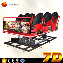Electronic Game Products 6 Seats Interactive7d Cinema With English Movis