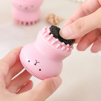 Wholesale Cheap High Quality Exfoliating Octopus SiliconBrush Cleansing Cleaner Silicone Face Brush