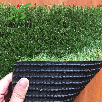 Residential Landscaping Artificial Grass 30mm Natural Green , Fire Proof