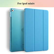 Joy Color Manufactory Fabrication Automatically Wake Up Smart Cover For Ipad mini4 Tablet Cover