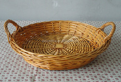 2016 wholesale artificial willow fruit basket at Christmas