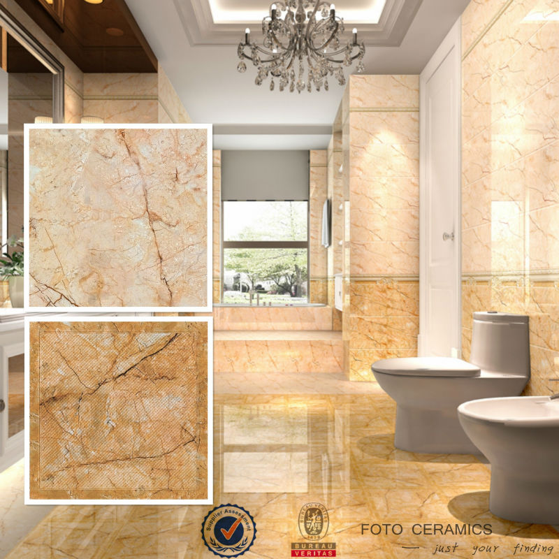 Bathroom ceramic floor tile