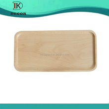 Cheap Wholesale Rectangle Hand carved Beech Wood Cake Serving Tray