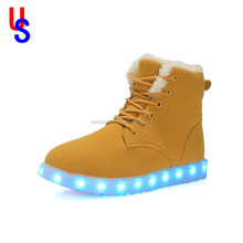 LED Flashing men shoes Light Up shoe Flashing Disco Party Fun Led boots