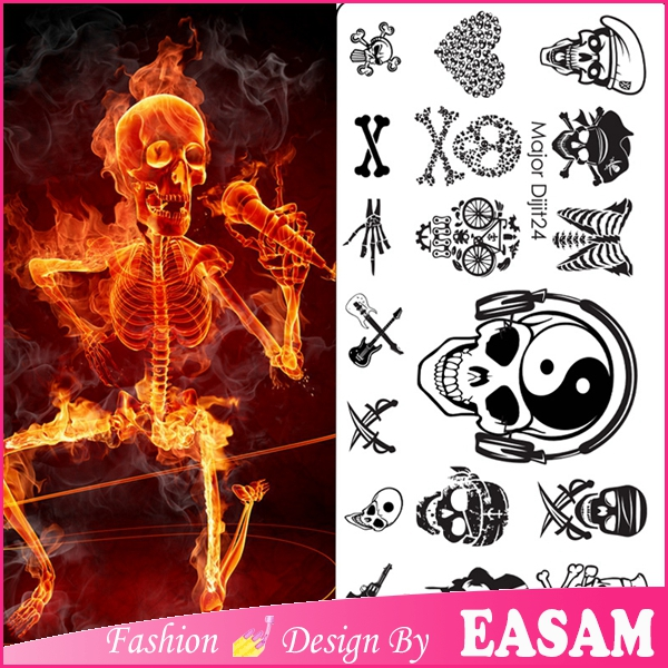 Easam company fashion major series metal nail art stamping stainless steel plate