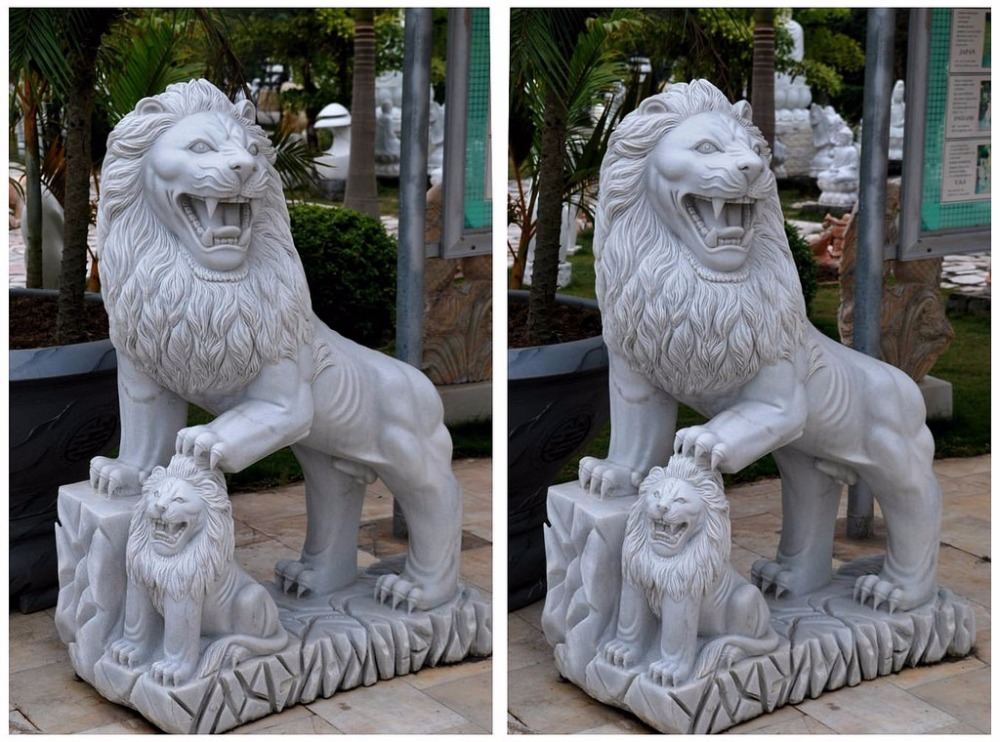 garden decoration stone carving vietnam marble sculptures for lion statue