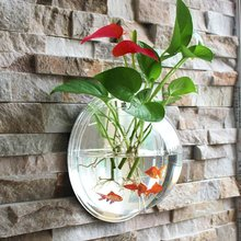 Hanging Wall Mounted Fish Bowl Aquaponic Tank Plant Wall Hanging Mount Bubble Aquariums Plant Fish Bubble Home Decoration