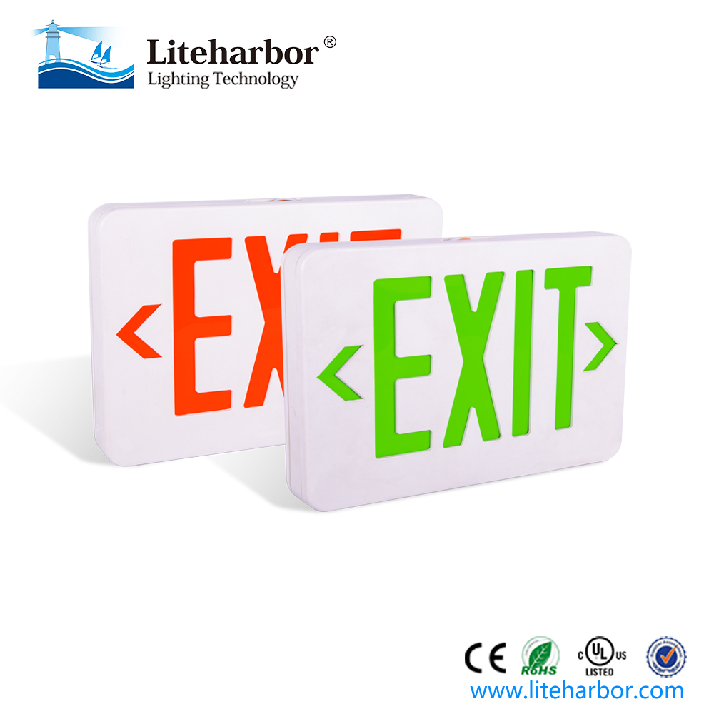 LED Emergency exit only sign led abs housing single faces green or red lettter
