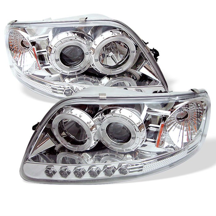 Ford F150 / Expedition 97-03 1PC Halo LED Projector Headlights - Chrome