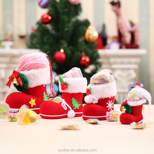 Hot christmas shoes lovely christmas tree ornament cute christmas pen container