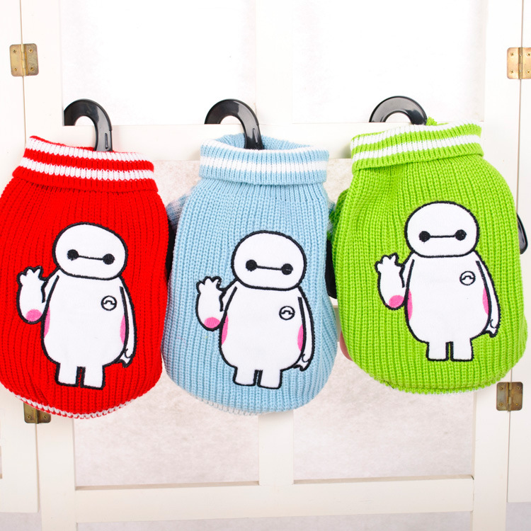 New winter Baymax sweater pet clothes dog clothes and cat outfit