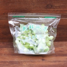 fresh fruit zipper packaging bags or vegetables plastic bags