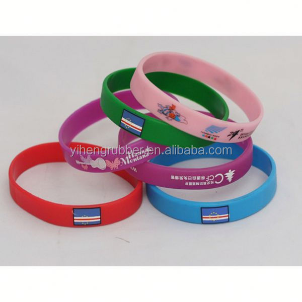 Clear custom your own id silicone bracelet