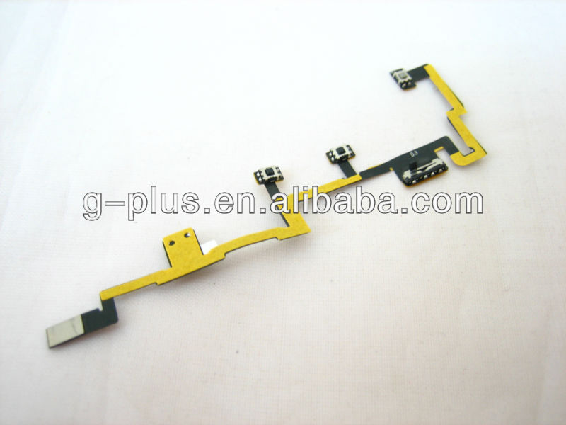 On Off Power Switch Volume Control Mute Button Key Flex Cable Ribbon for iPad 2