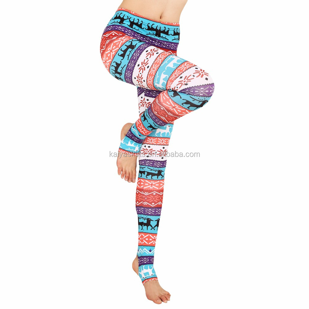 Hot selling yoga pants boutique clothing fitness tights women printed leggings