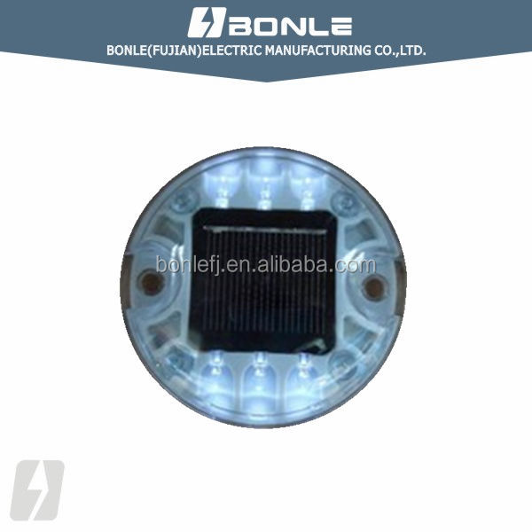 BSL-16D Round Shape Led PC Reflective Solar Road Stud,Caution Light