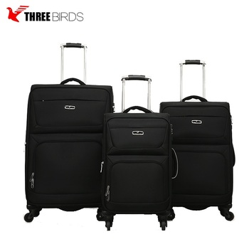China Supplier Supply Hard Case Fabric Trolley Travel Luggage Bags For Whole World