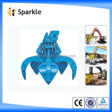 Excavator Hydraulic Rotating Grab with 5Teeth